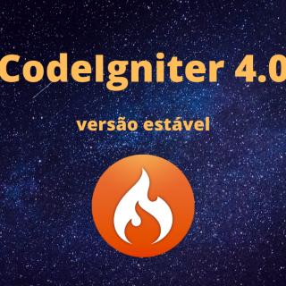 imagem de lançamento do codeigniter 4.0 versão estável